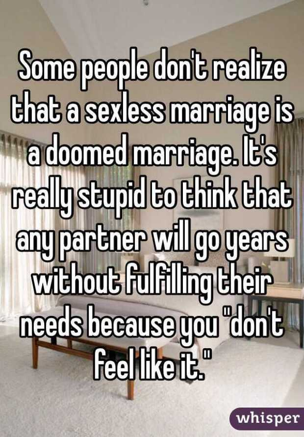 unhappy sexless marriage