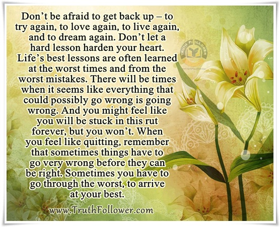 don't be afraid to back-up try again