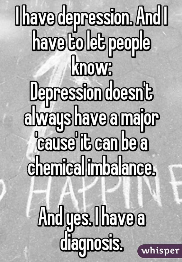 depression chemicals
