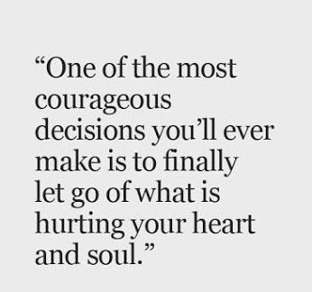 letting-go courage